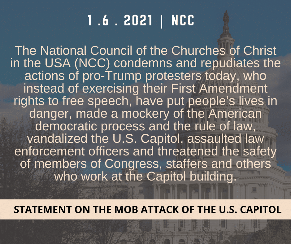 Click here to read the NCC's statement on the U.S. Capitol insurrection of Jan. 6, 2021.