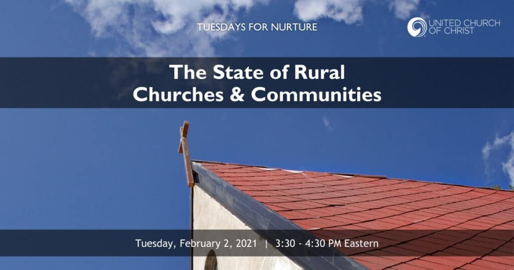 The State of Rural Churches & Communities Zoom Banner