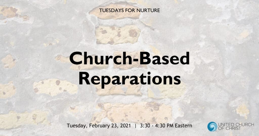 Church-Based Reparations Zoom Header