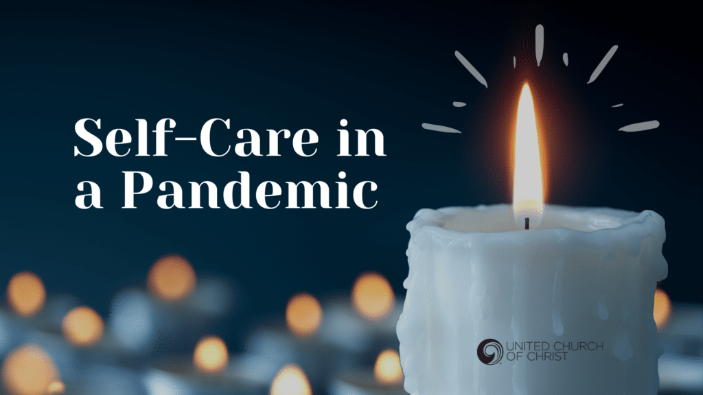 Self care in a pandemic: candle image