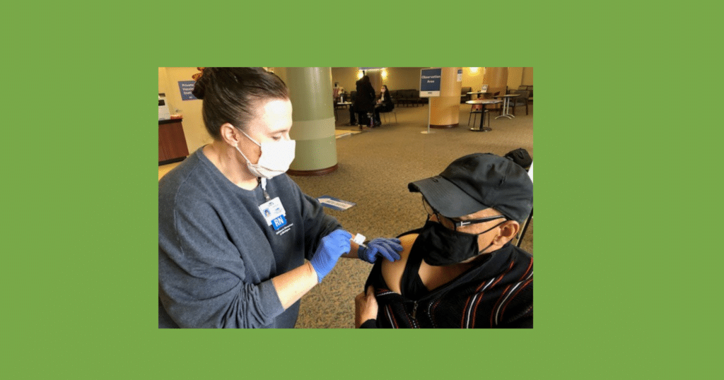The Rev. James Womack, M.D., receives COVID-19 vaccination 2021