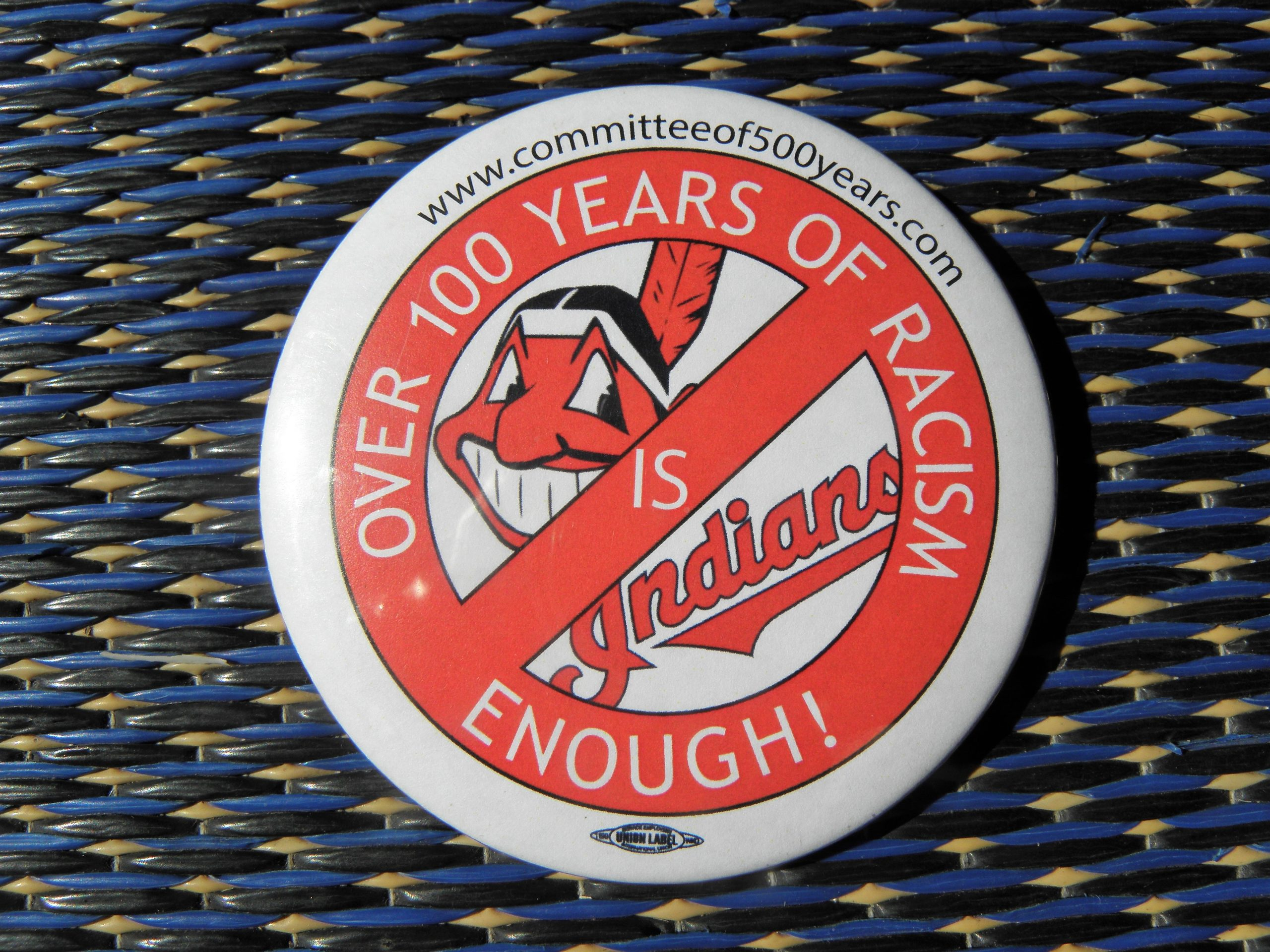 100 years of racism button