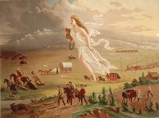American Progress painting 1872