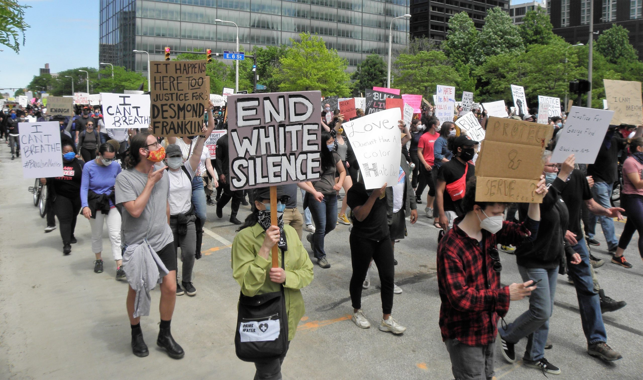 BLM CLE demo end white silence, 5/30/20