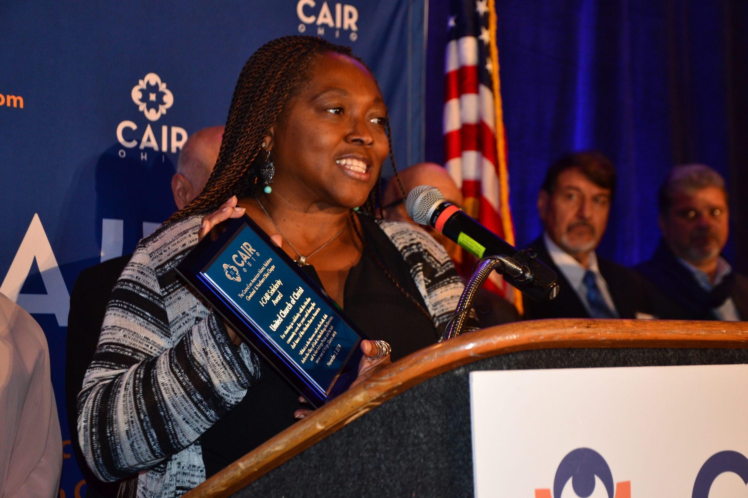 CAIR award to UCC 11/3/19 K.G. Thompson