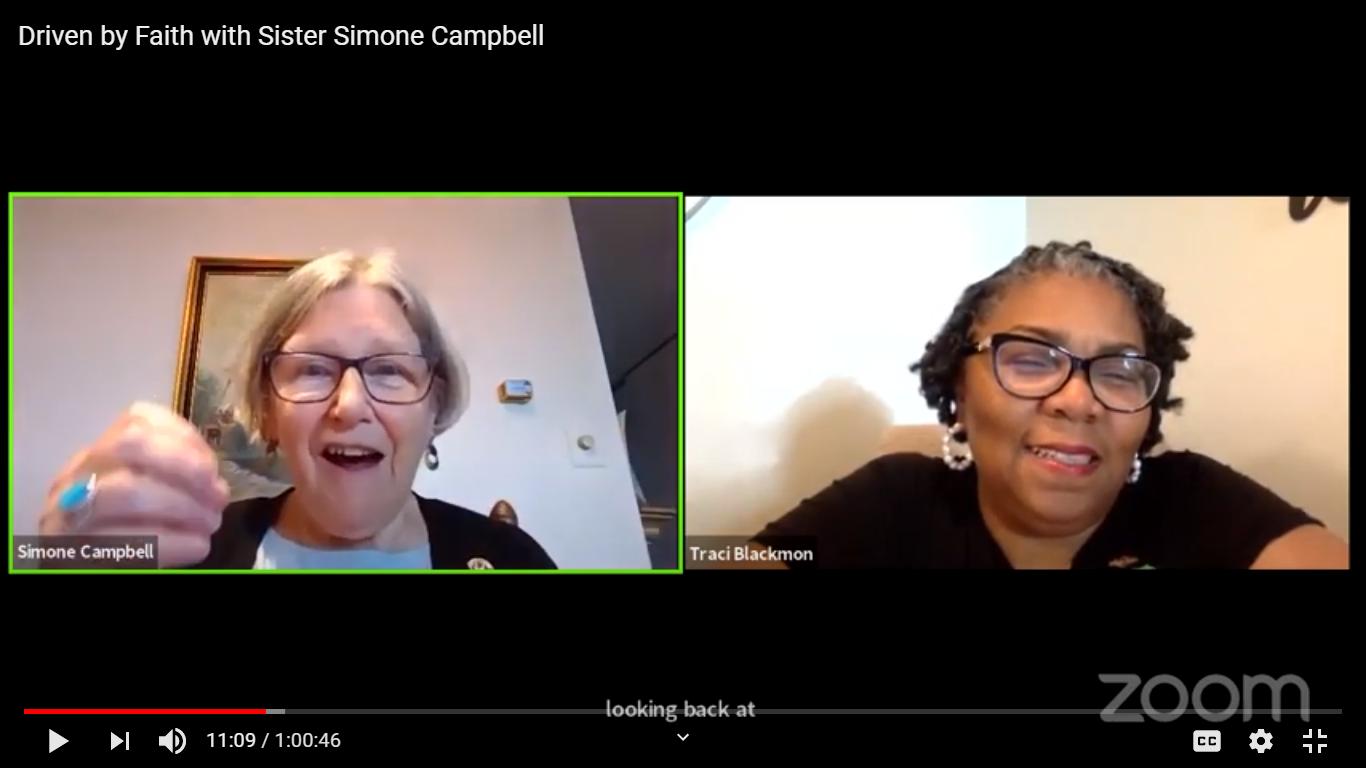 Simone Campbell & Traci Blackmon, 9/3/20