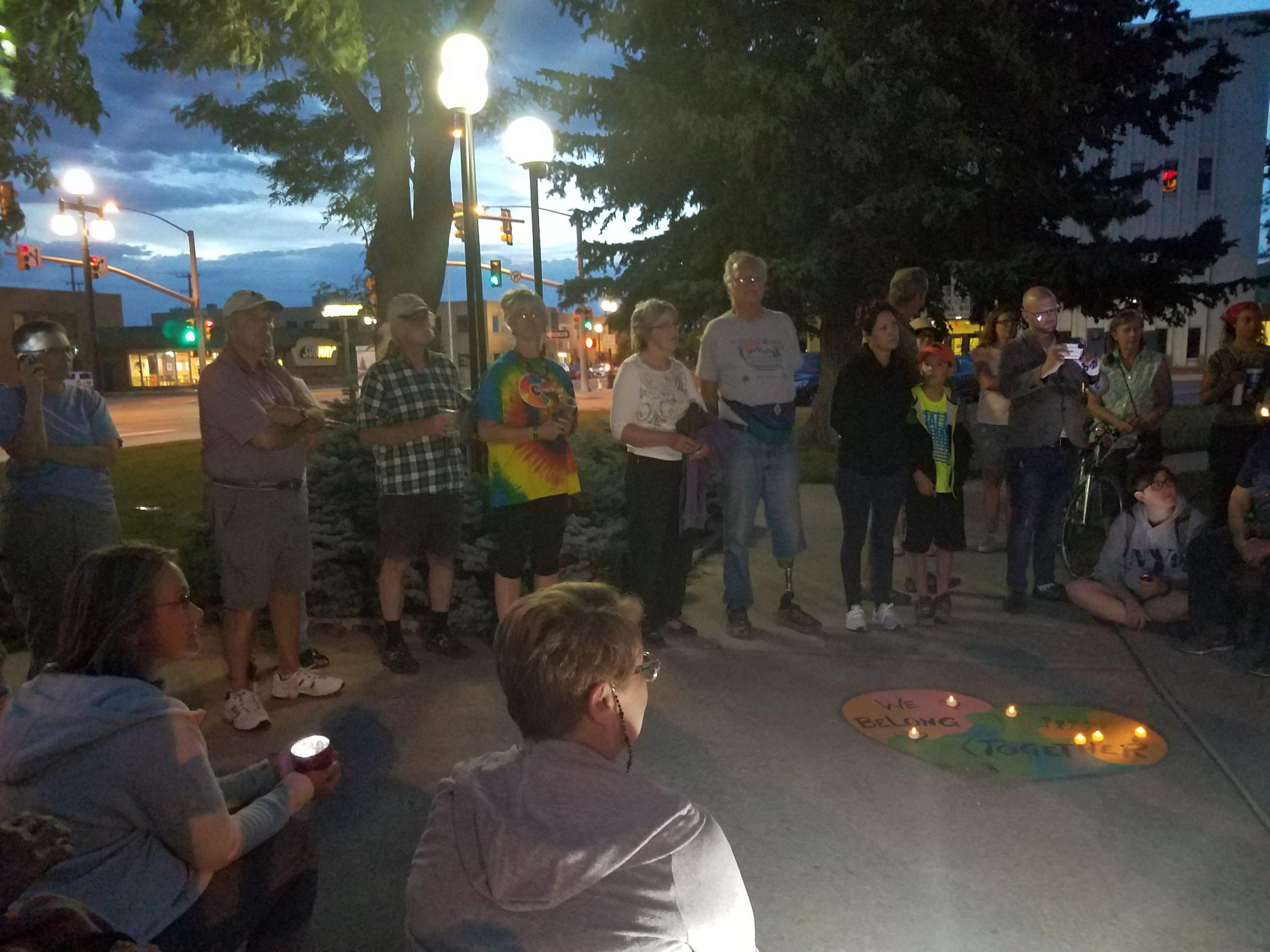 Casper, Wyo., Lights for Liberty vigil, 7/12/19