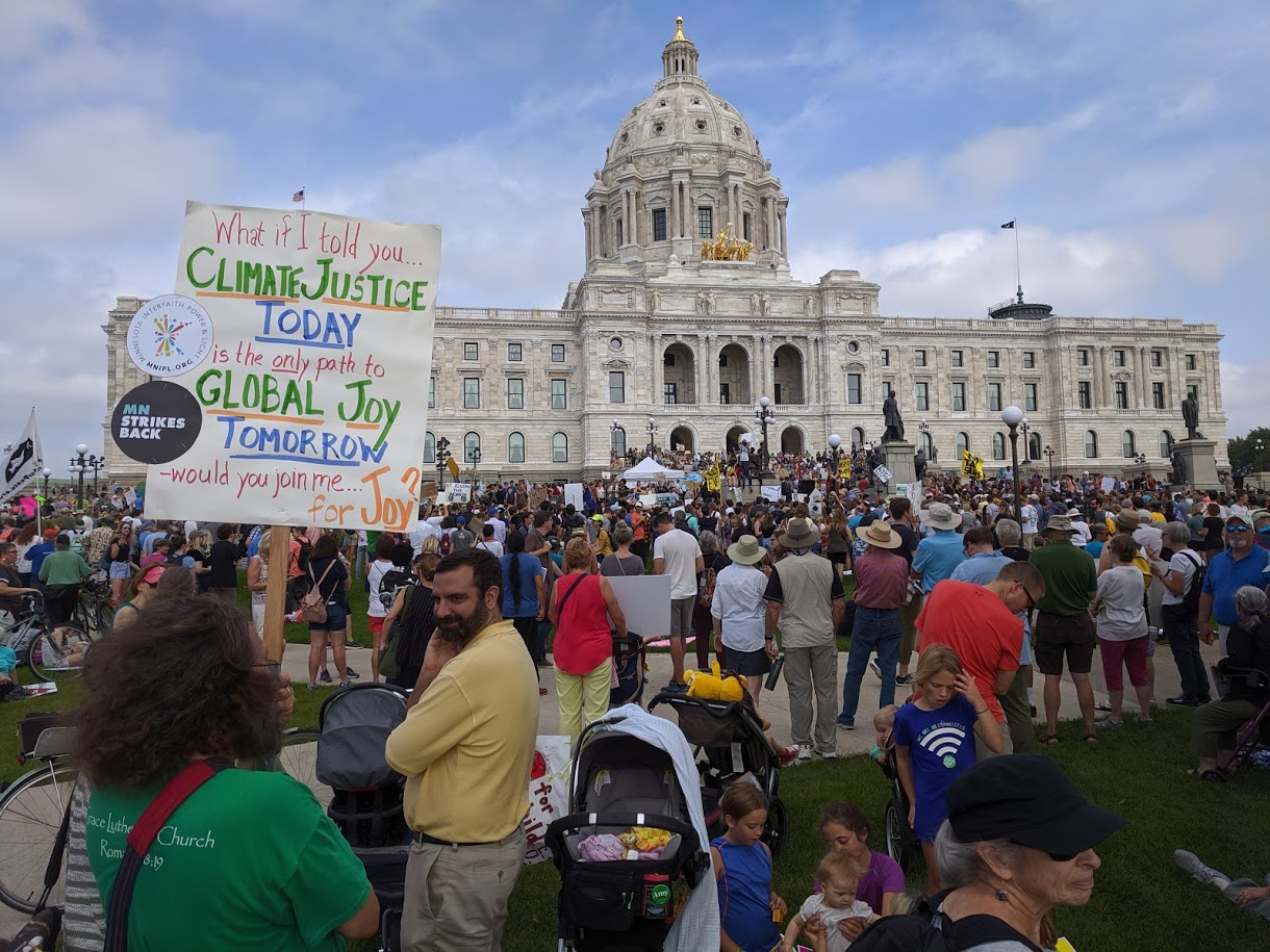 St. Paul's UCC at Climate Strike, Minn. State Capitol, 9/20/19