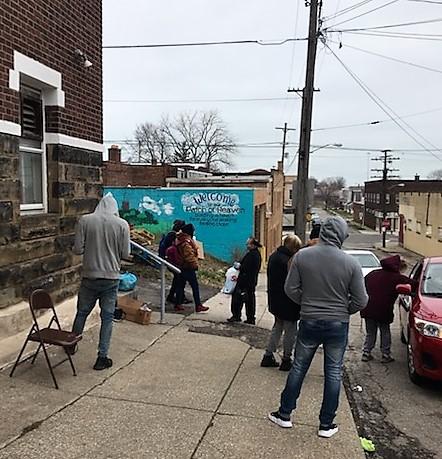 Outside Denison Avenue UCC Cleveland, 3/24/20