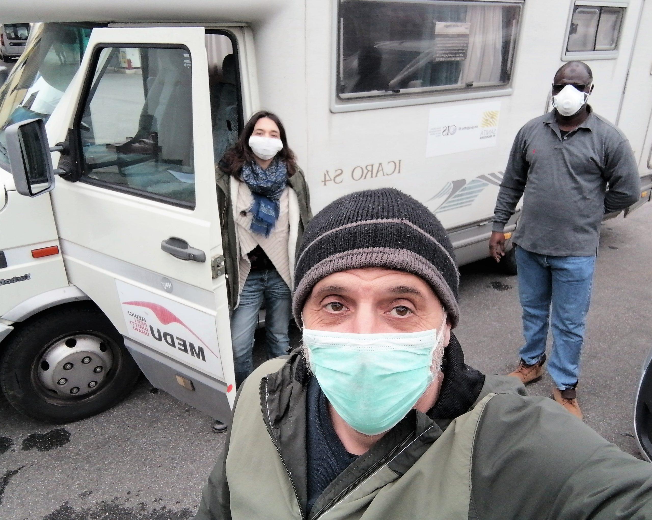 Italy refugee camp April 2020