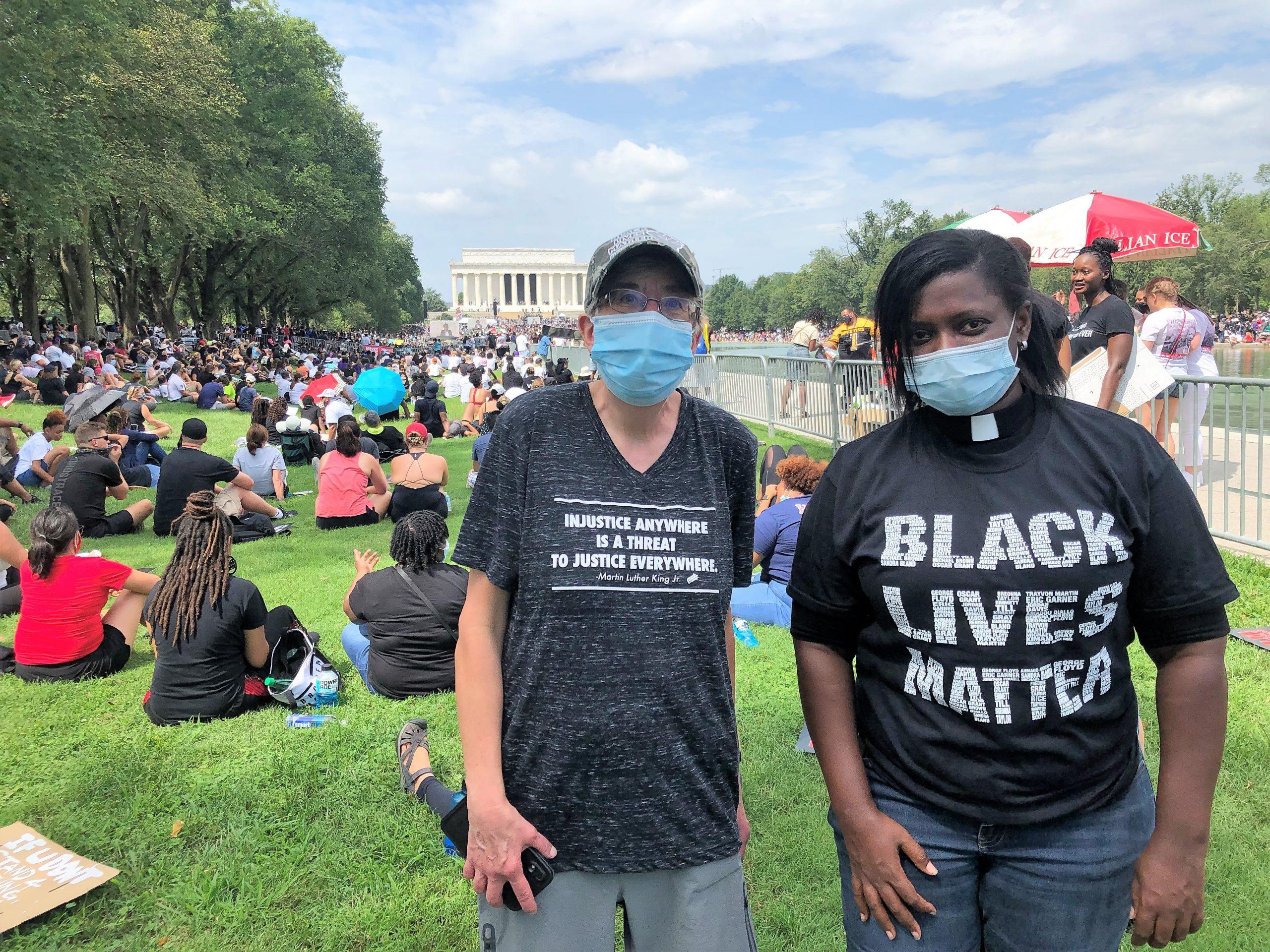 Sorensen & Guillaume at D.C. rally, 8/28/20