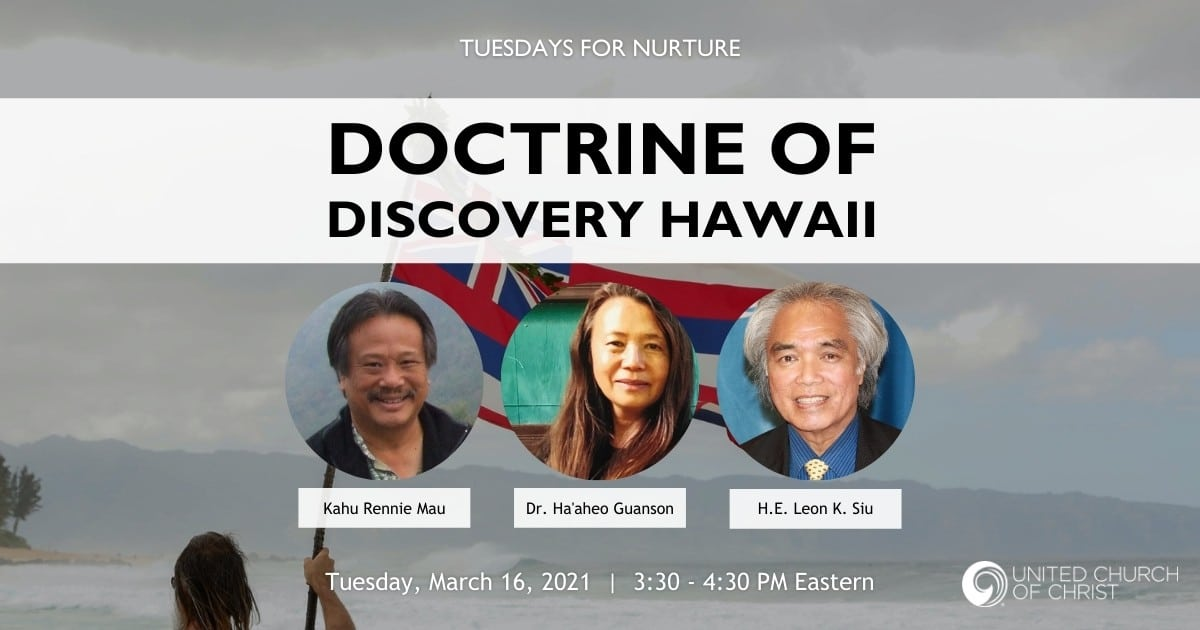 Doctrine of Discovery Zoom Banner