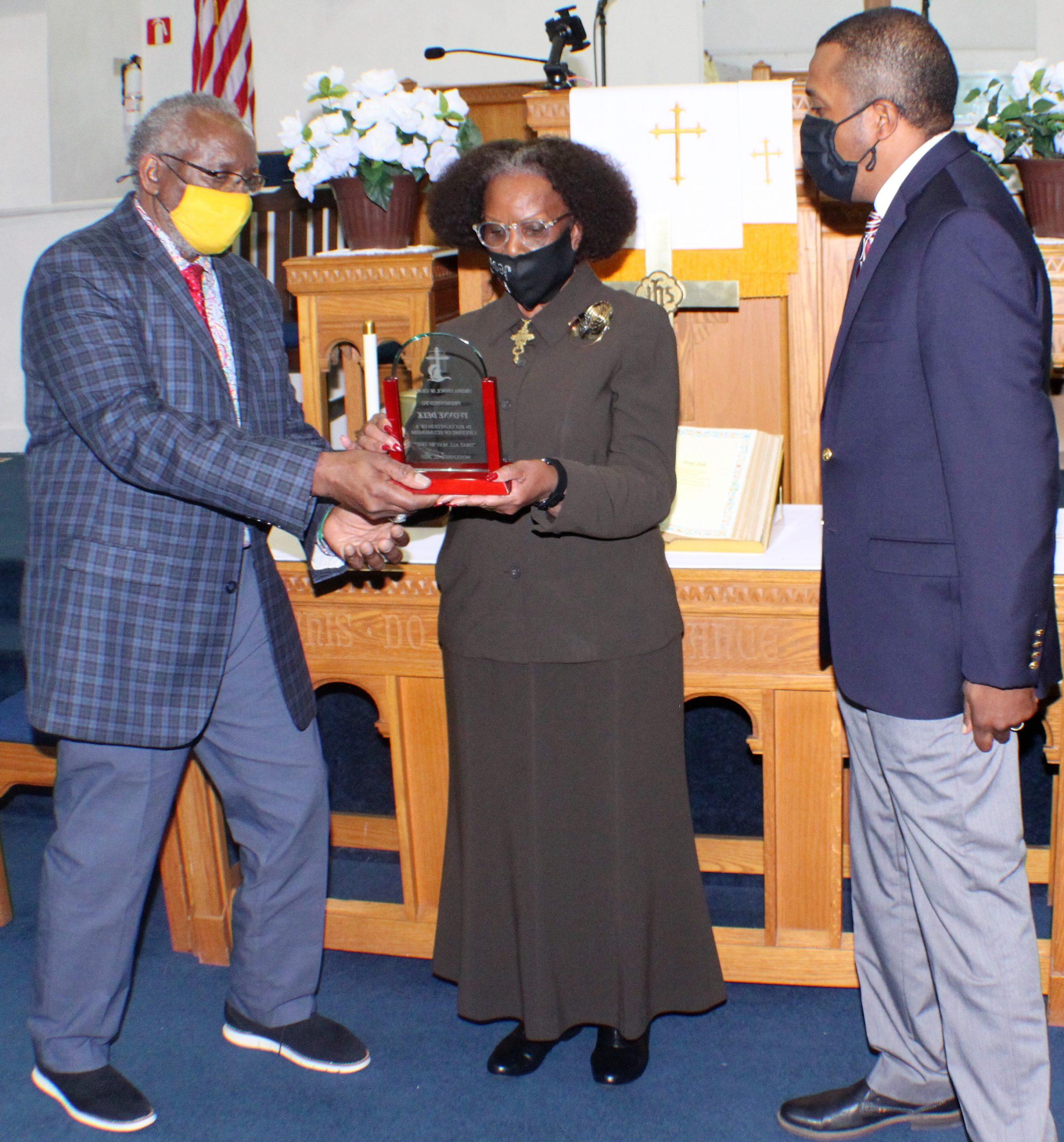 Delk receiving Virginia Council award 11/12/20
