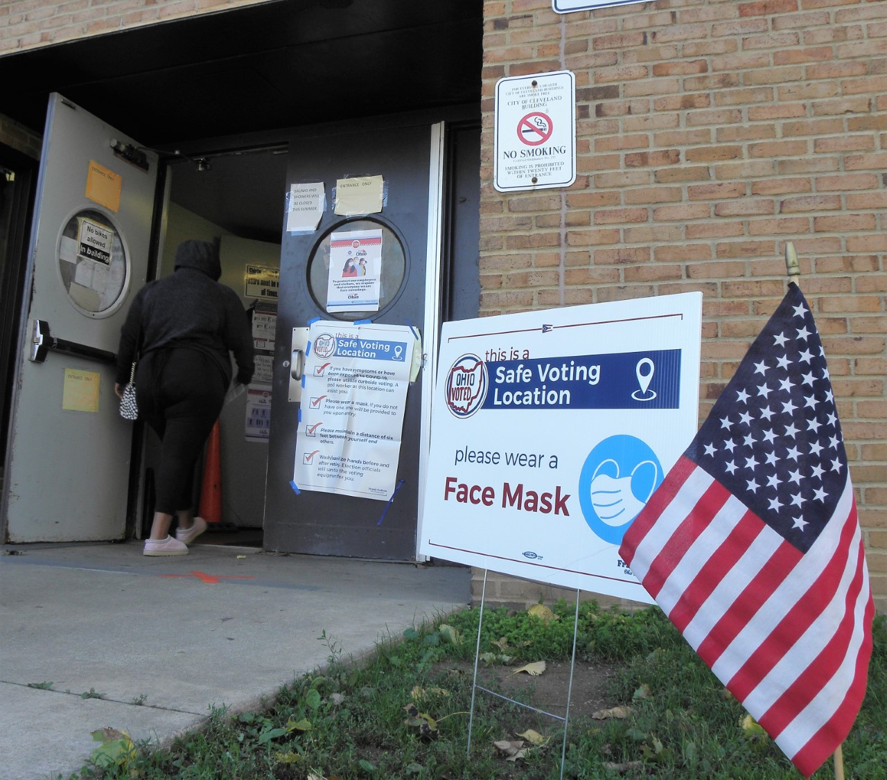Zone Rec Center polling place, Cleveland, 11/3/20