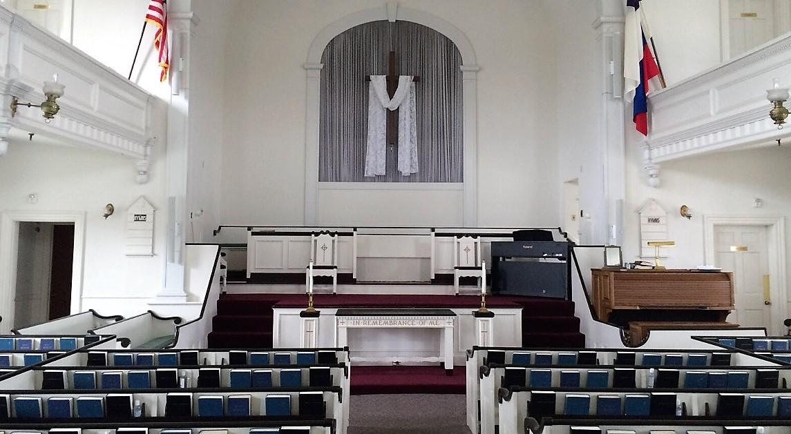 Empty R.I. church