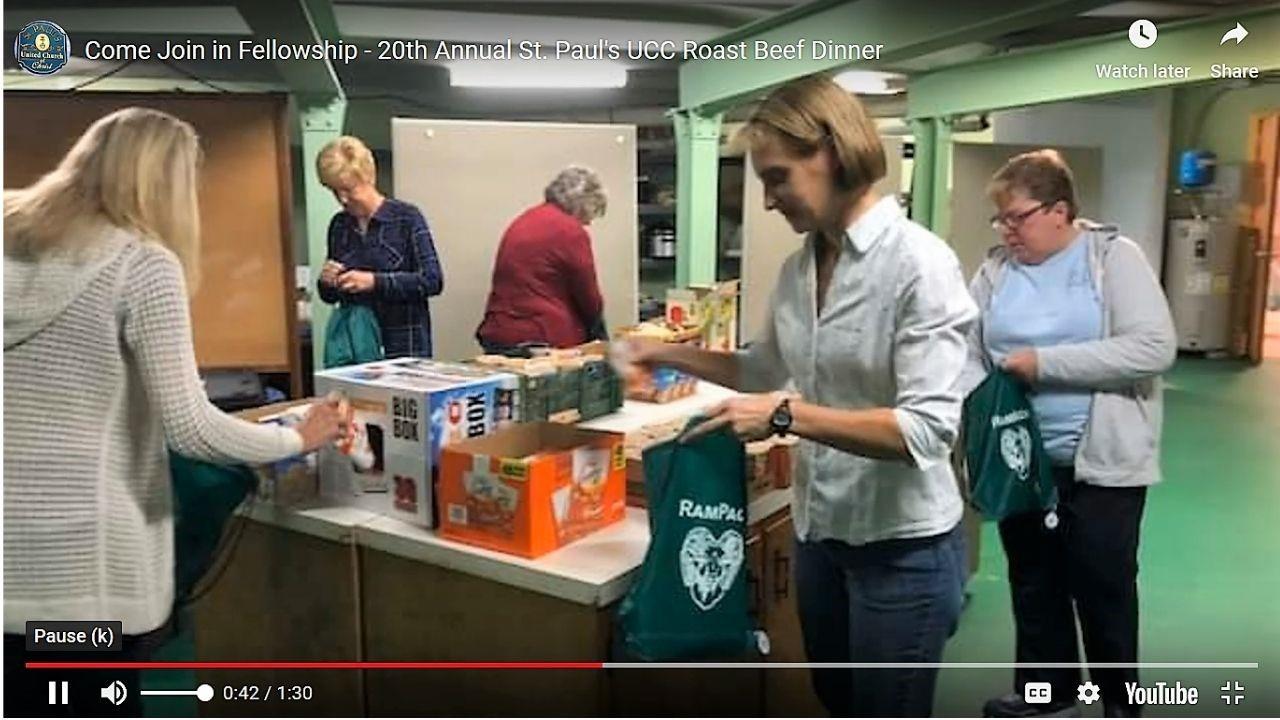 Fundraising dinner promo video screenshot Sellersville Pa 2020