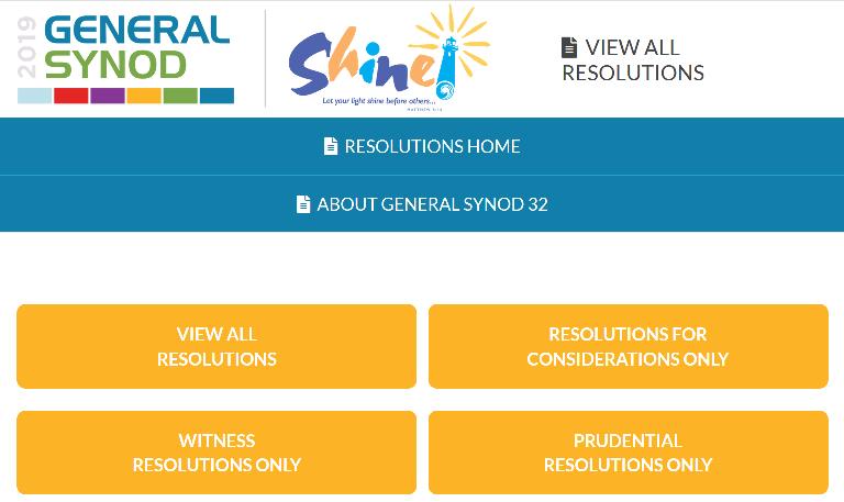General Synod Resolution Center