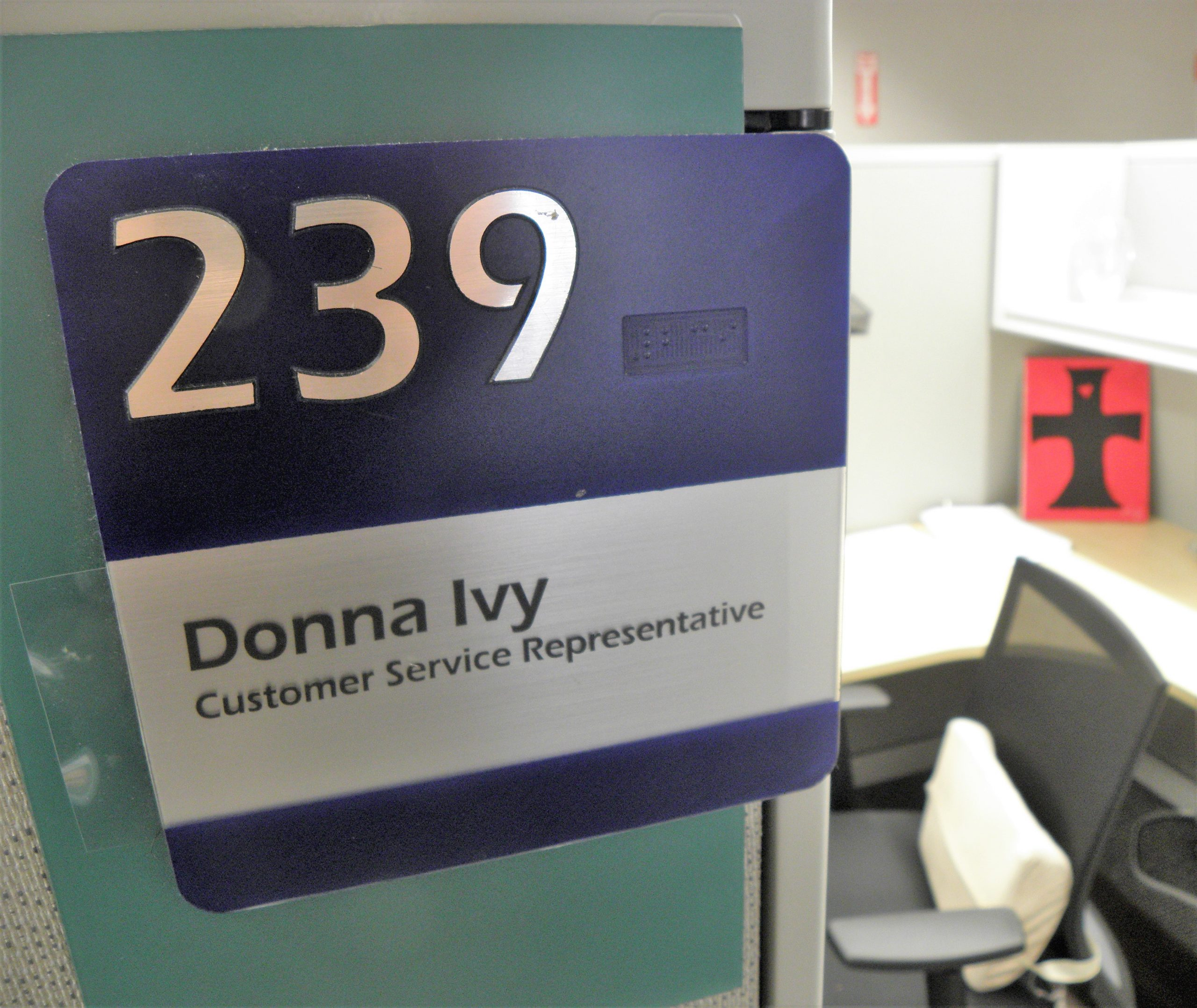 Donna Ivy's cubicle, 6/13/19