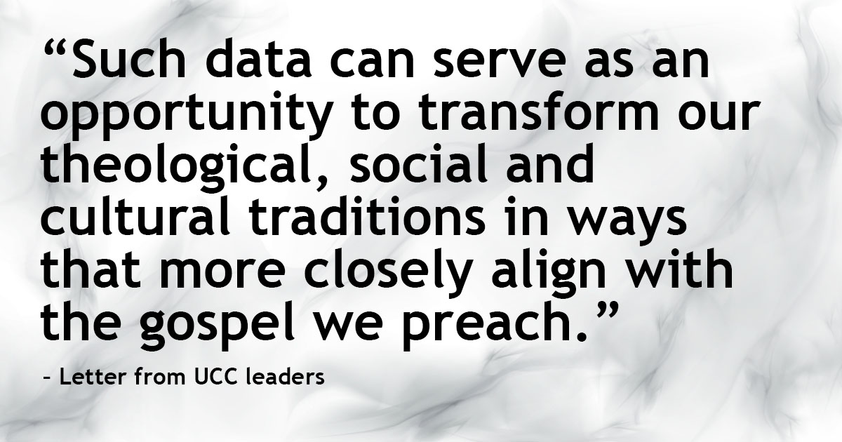 Quote from UCC leaders' letter to the church, 9/1/20