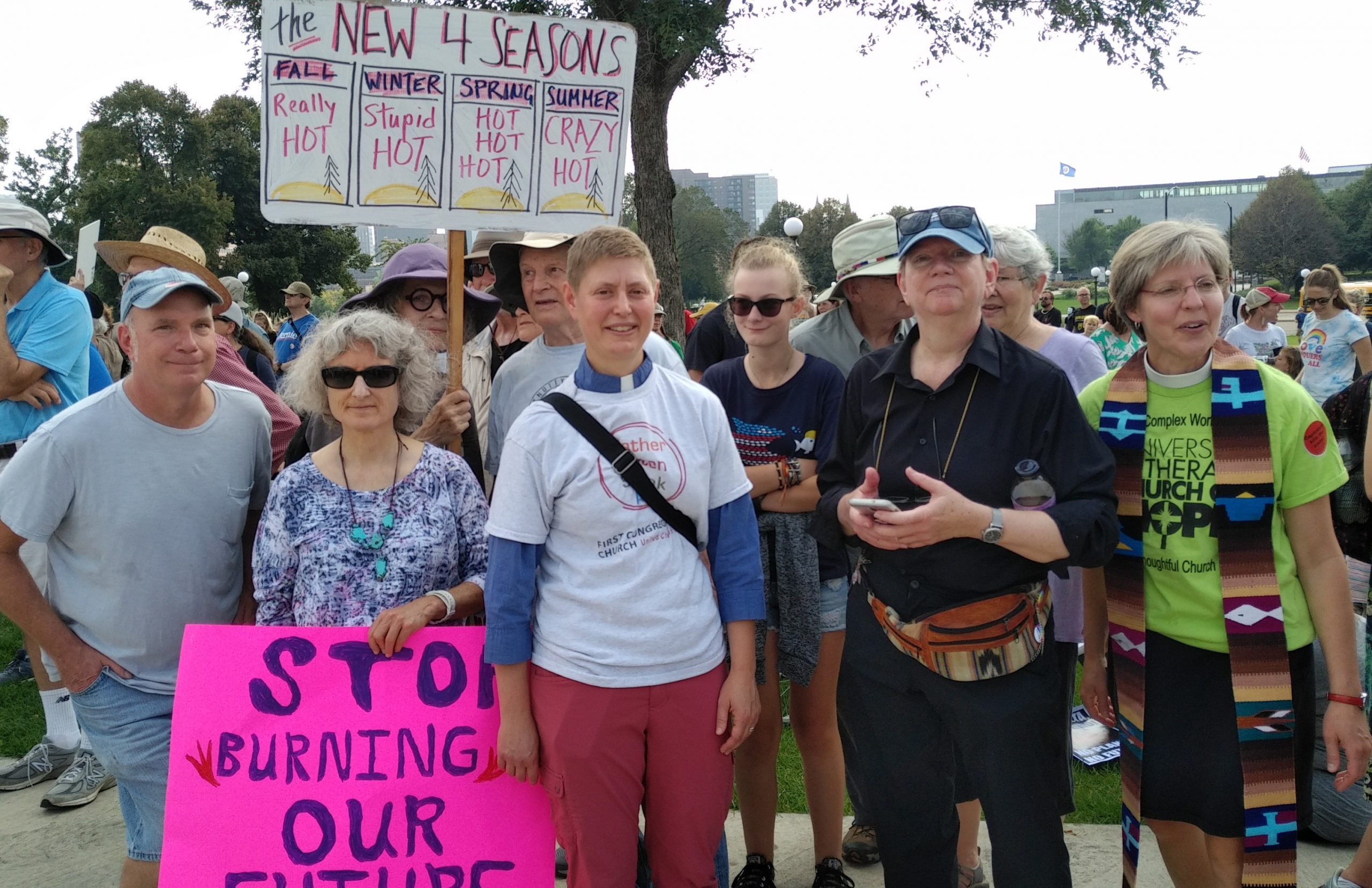 First Congregational, et al., at St. Paul Climate Strike, 9/20/19