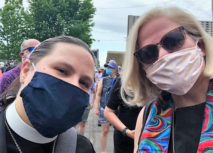 Bartz and Prestemon, Minneapolis Floyd clergy rally, 6/2/20