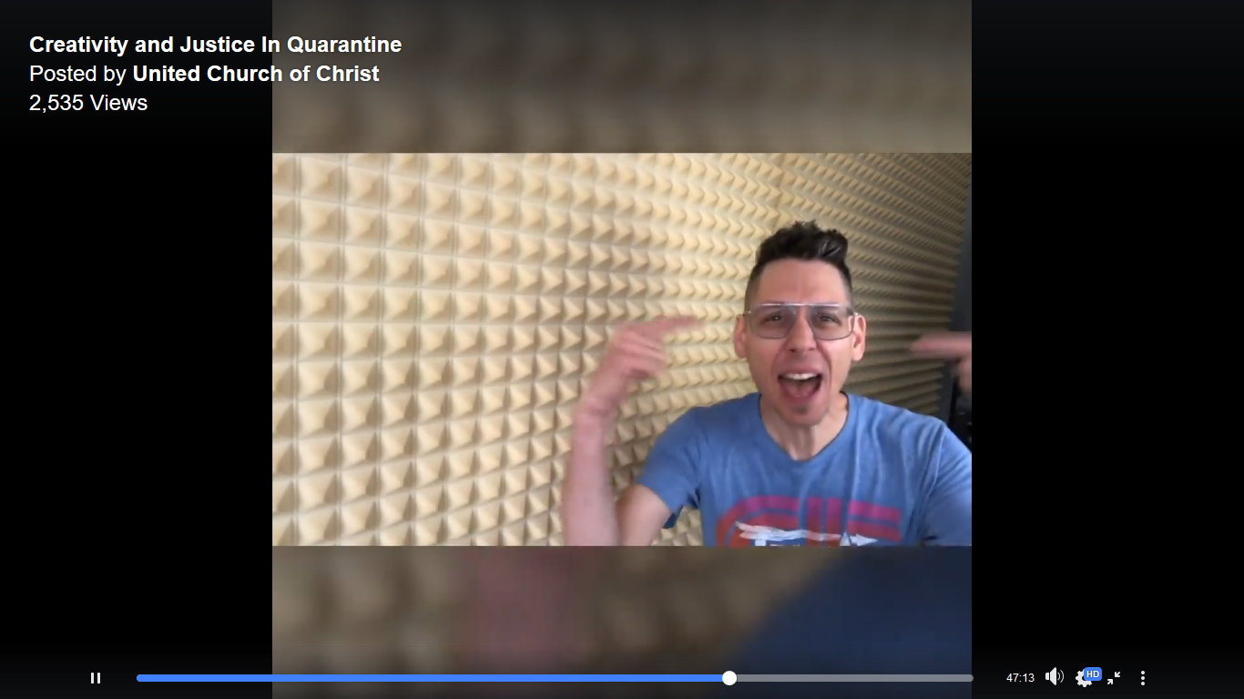 Harrill screen shot from NYE video 2020