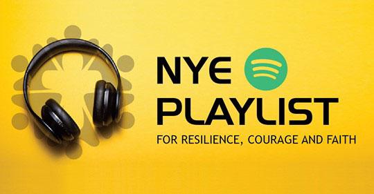 NYE 2020 playlist logo