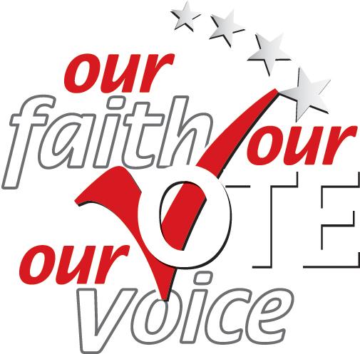 Our Faith Our Vote logo