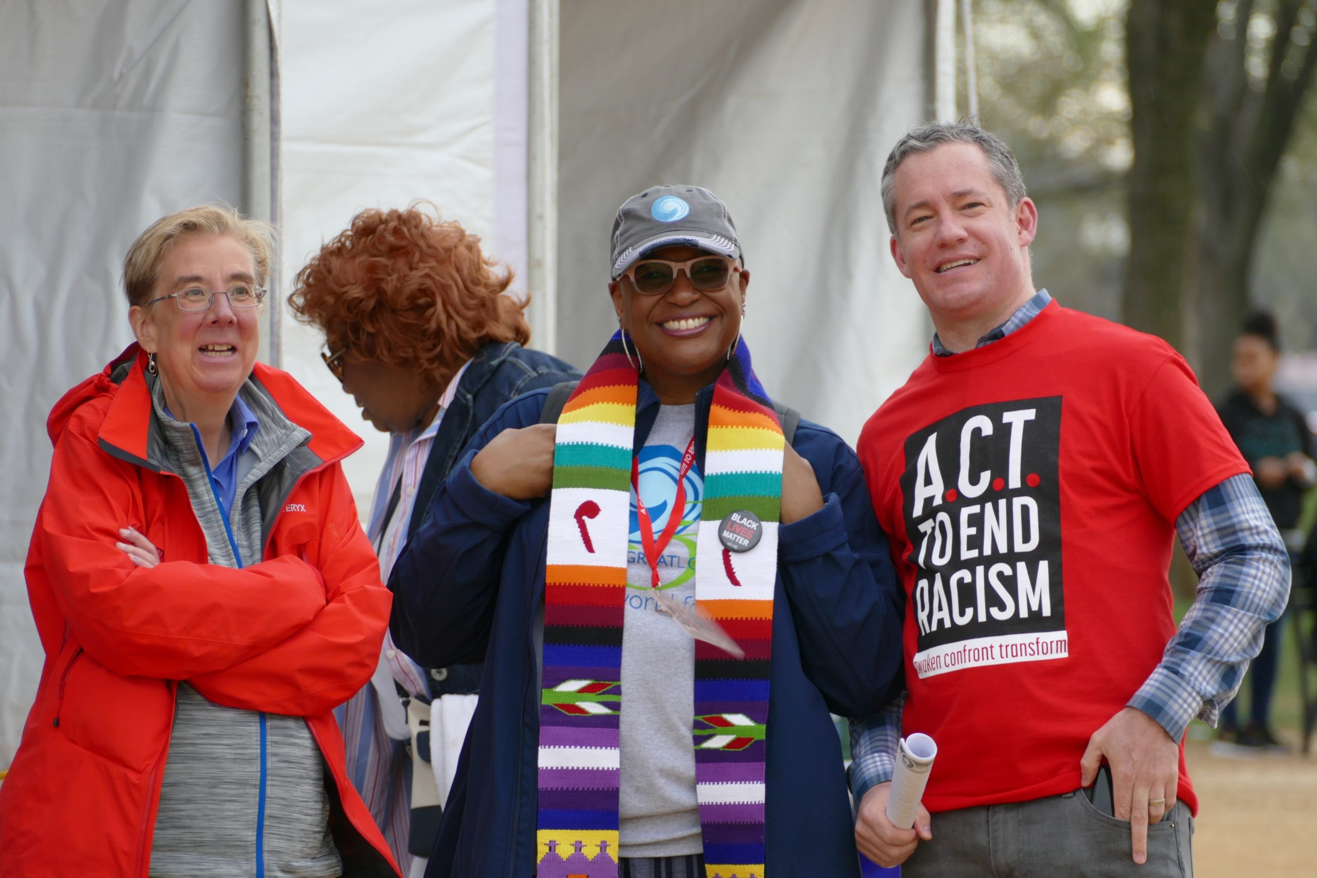 Velda Love at Rally to End Racism