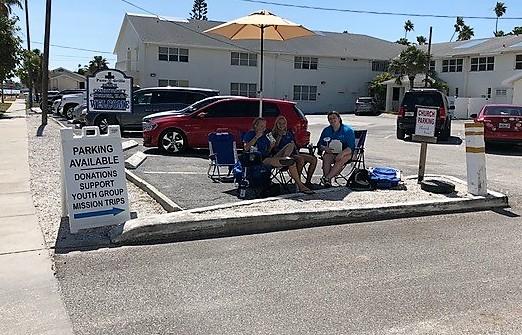 Pass-A-Grille Beach UCC parking lot