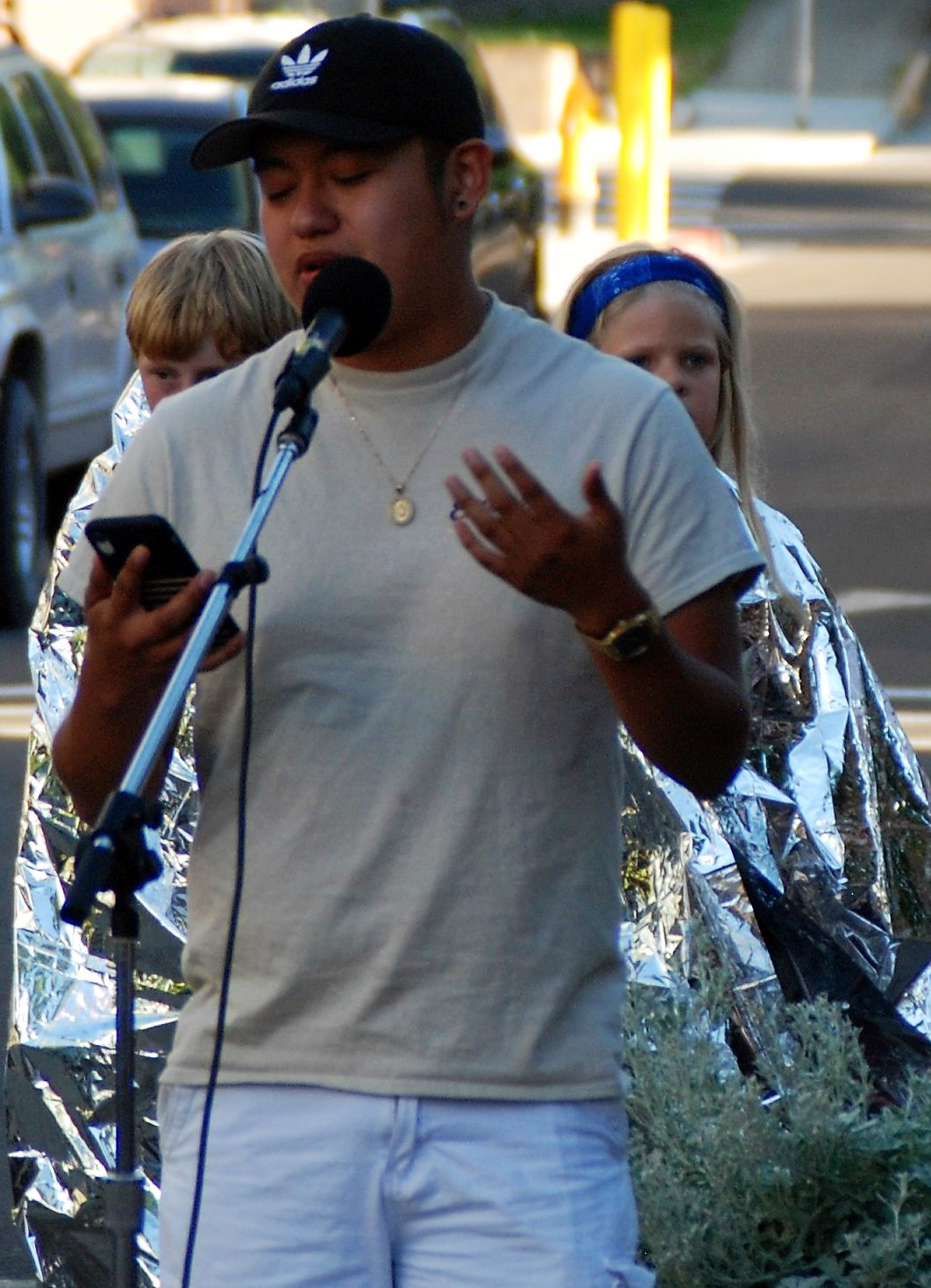 Pullman,, Wash., Lights for Liberty vigil, 7/12/19
