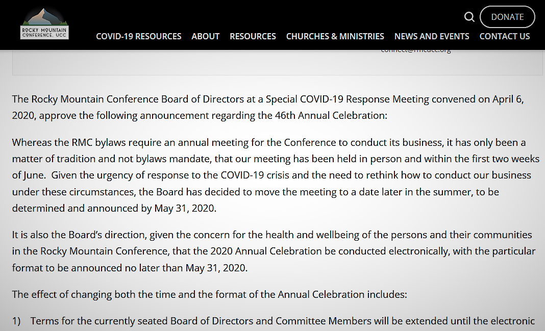 RMC 2020 annual meeting notice