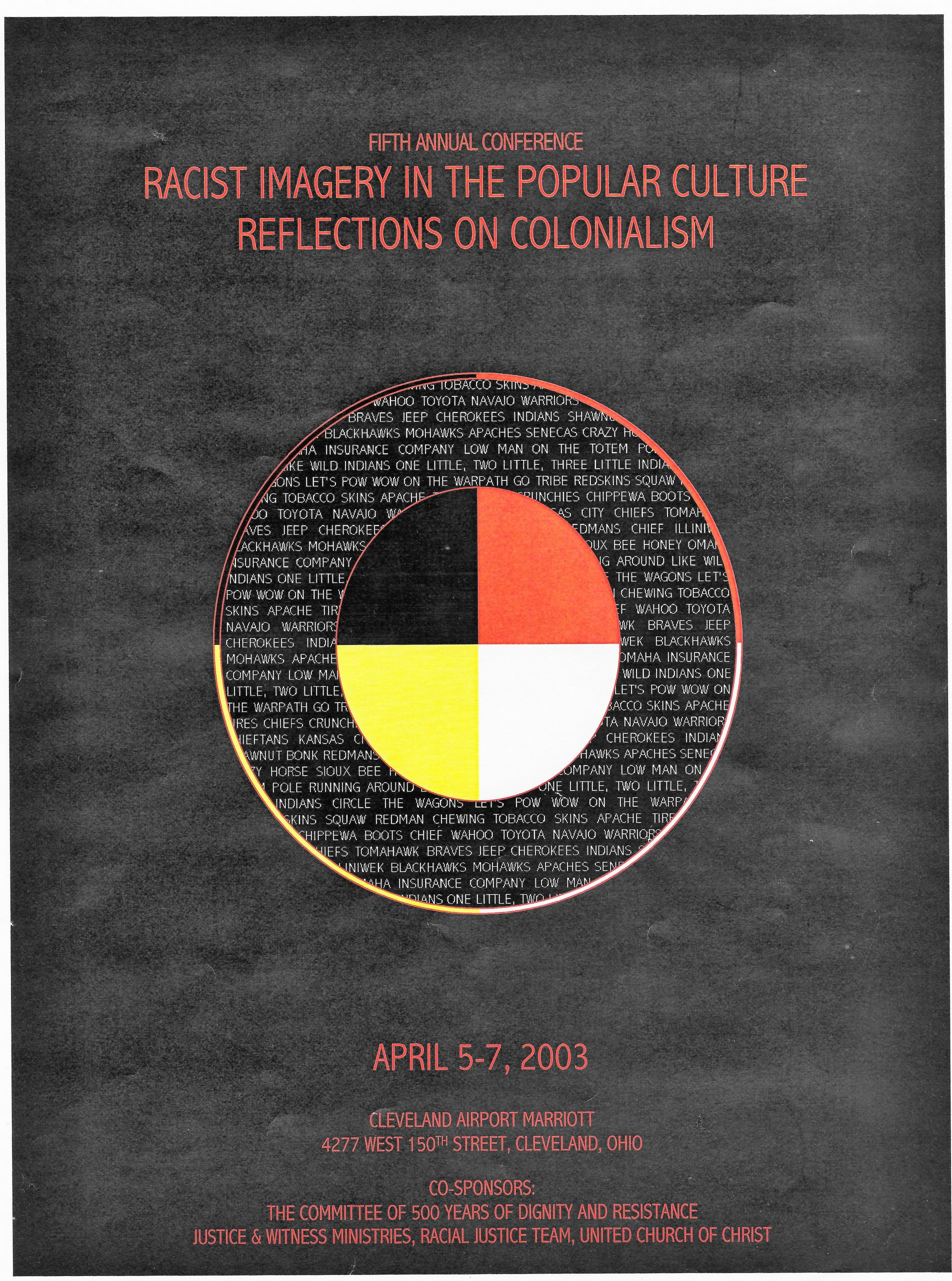 Racist imagery conference program cover 2003