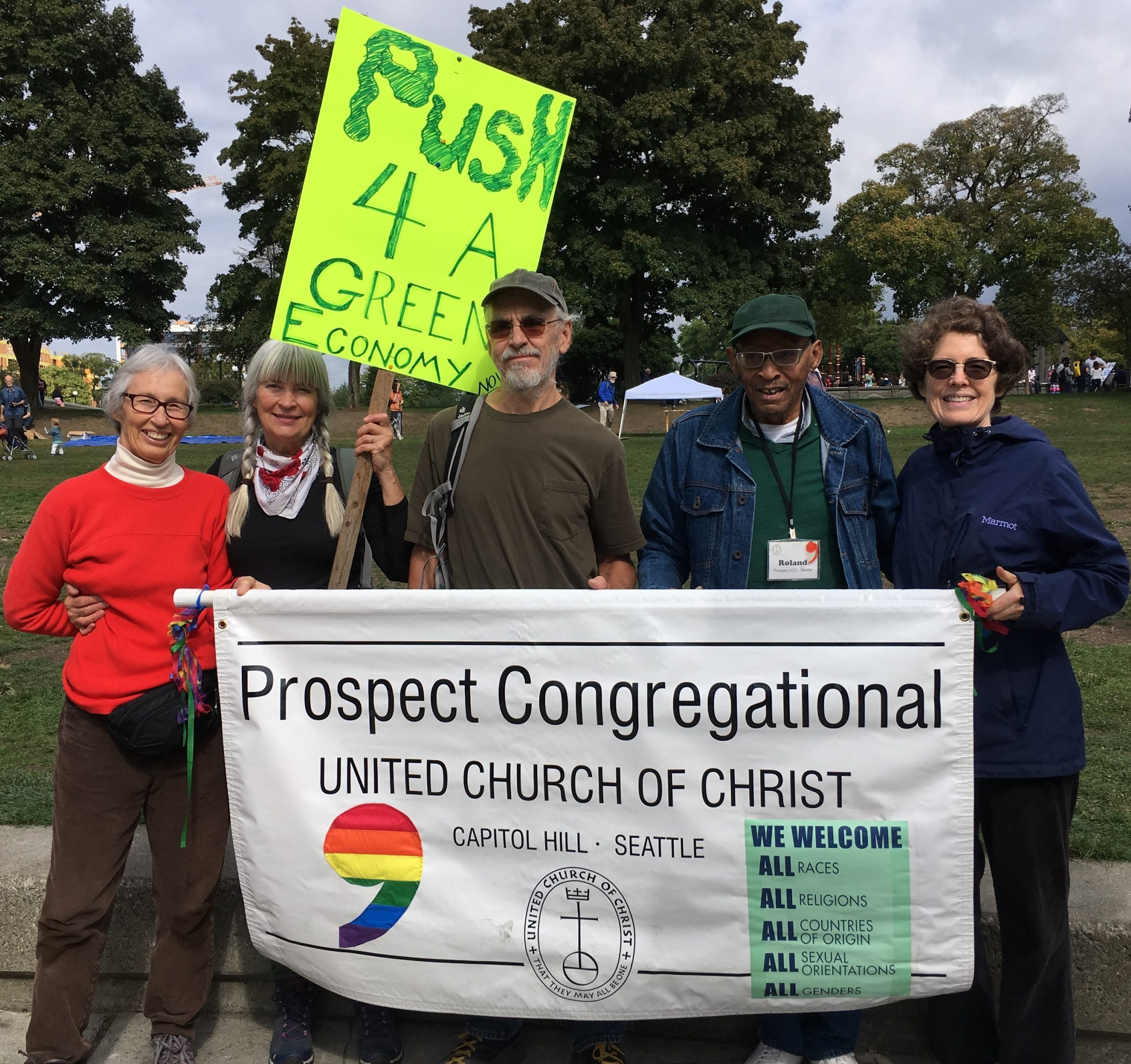 Prospect UCC, Seattle Climate Strike, 9/20/19