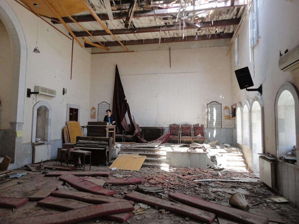 Syrian church war damage 2014