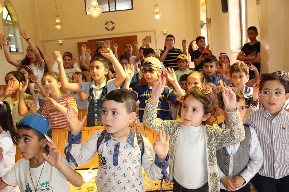 Children in Syrian church