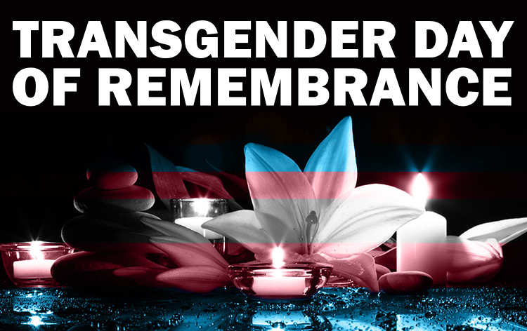 Transgender Day of Remembrance candle image