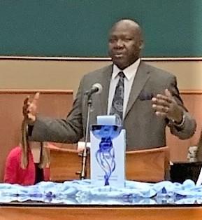 Moses Timka at news conference 1/27/20