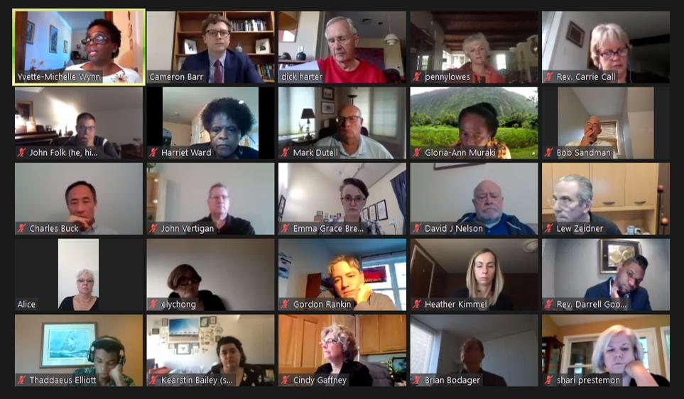 UCCB Board meeting screen shot, 10/2/20