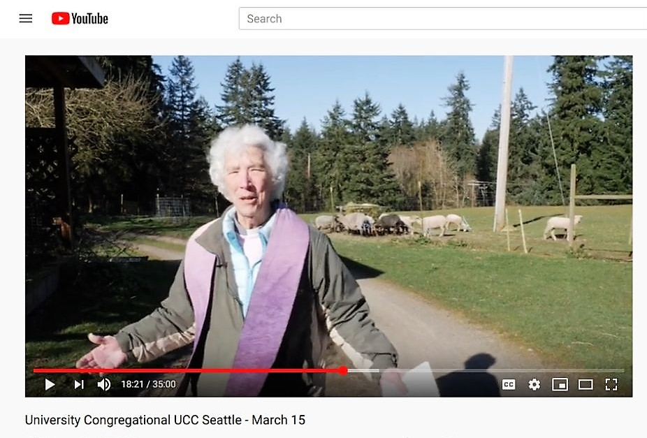 Online worship, University UCC, Seattle, 3/15/20