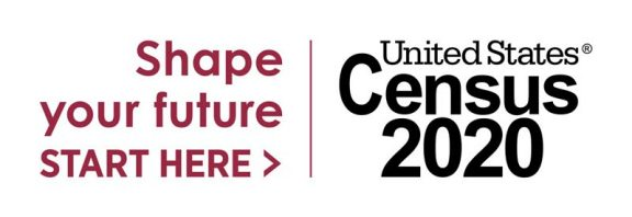Census 2020 logo with tagline