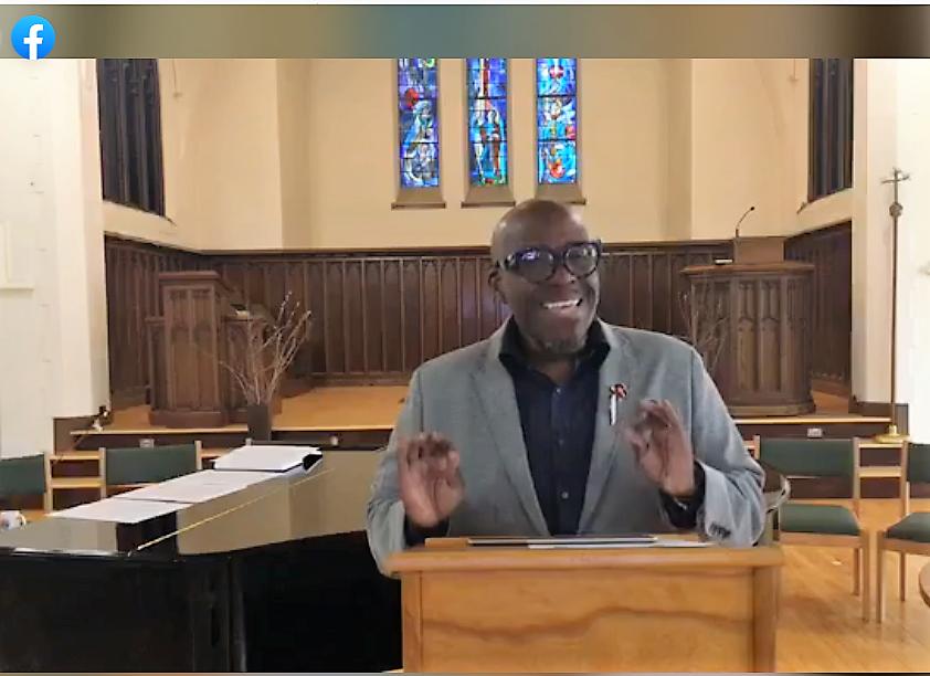 Ross preaching at Eden Seminary, 4/1/20