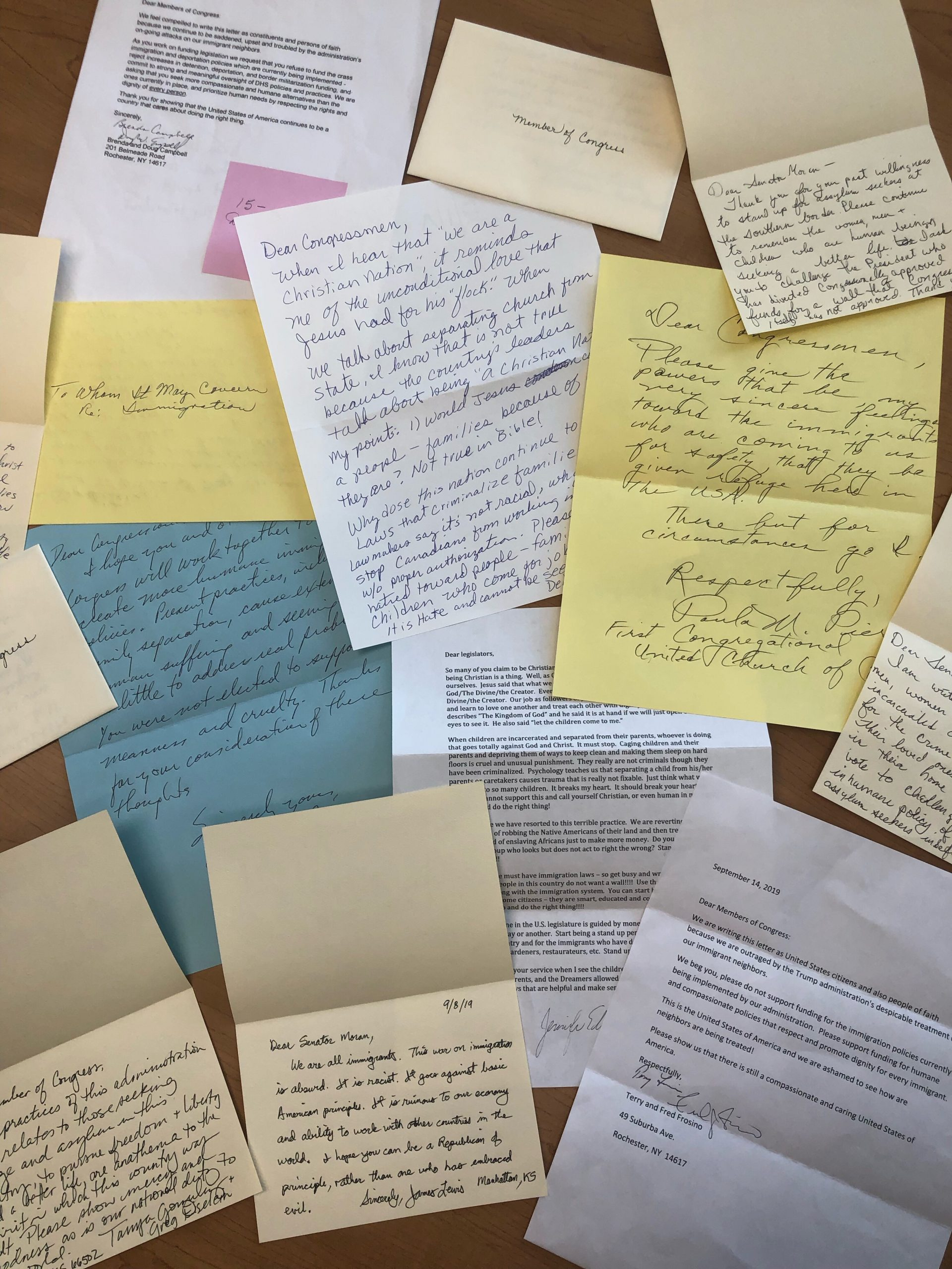 Immigration letters to Congress 9/25/19