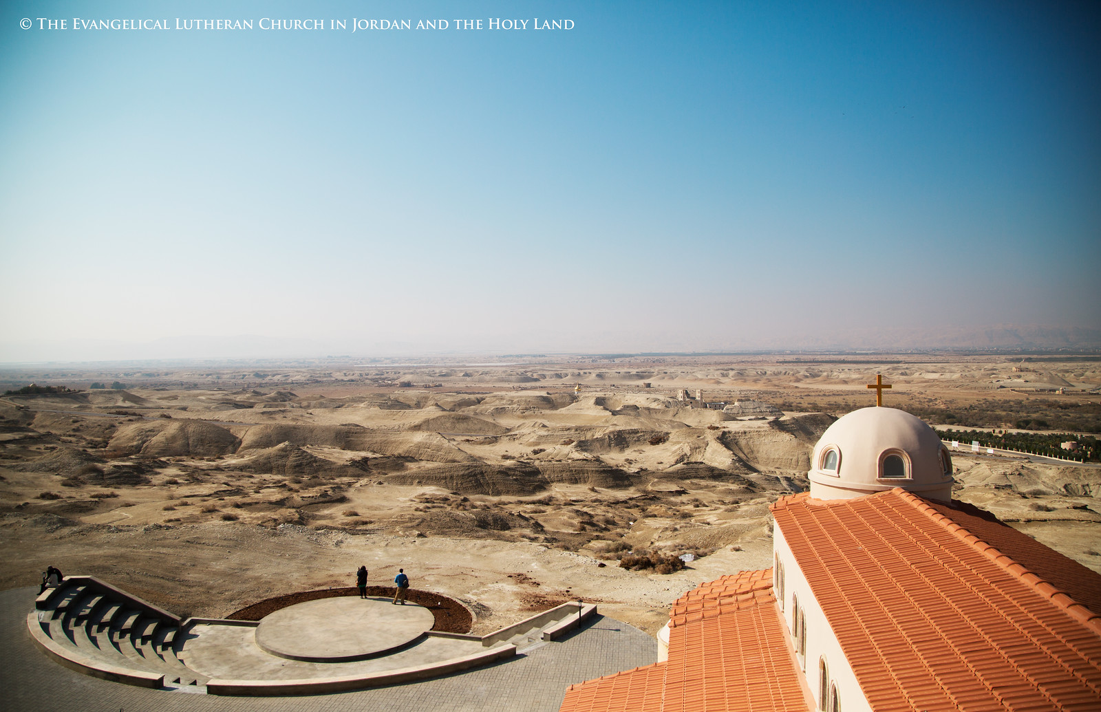 The view from the roof of the Evangelical Lutheran Church at Bethany Beyond the Jordan. Photo via The Evangelical Lutheran Church in Jordan and the Holy Land