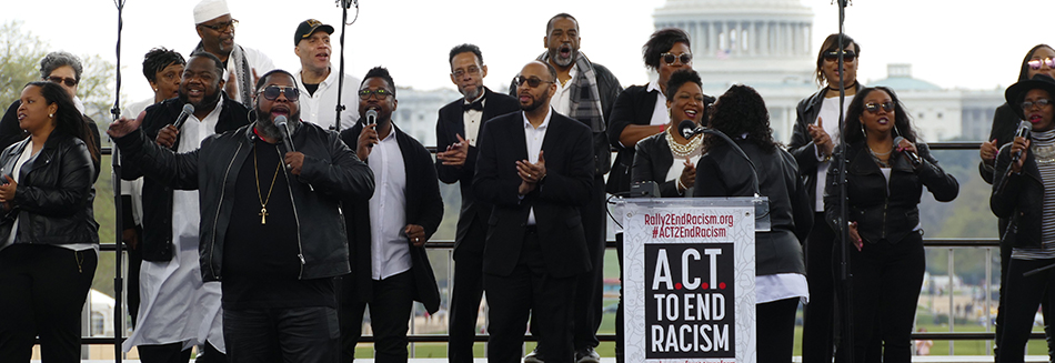 NCC Act to End Racism rally