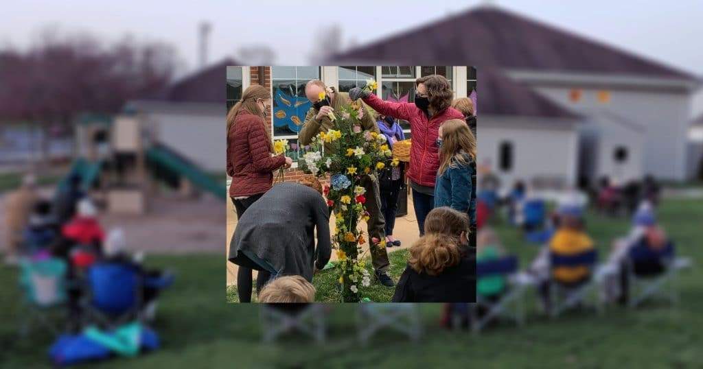 Composite of outdoor Easter services 4/4/21