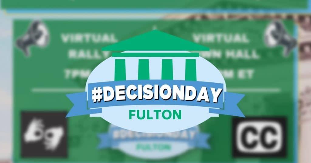 Fulton#DecisionDayLogo