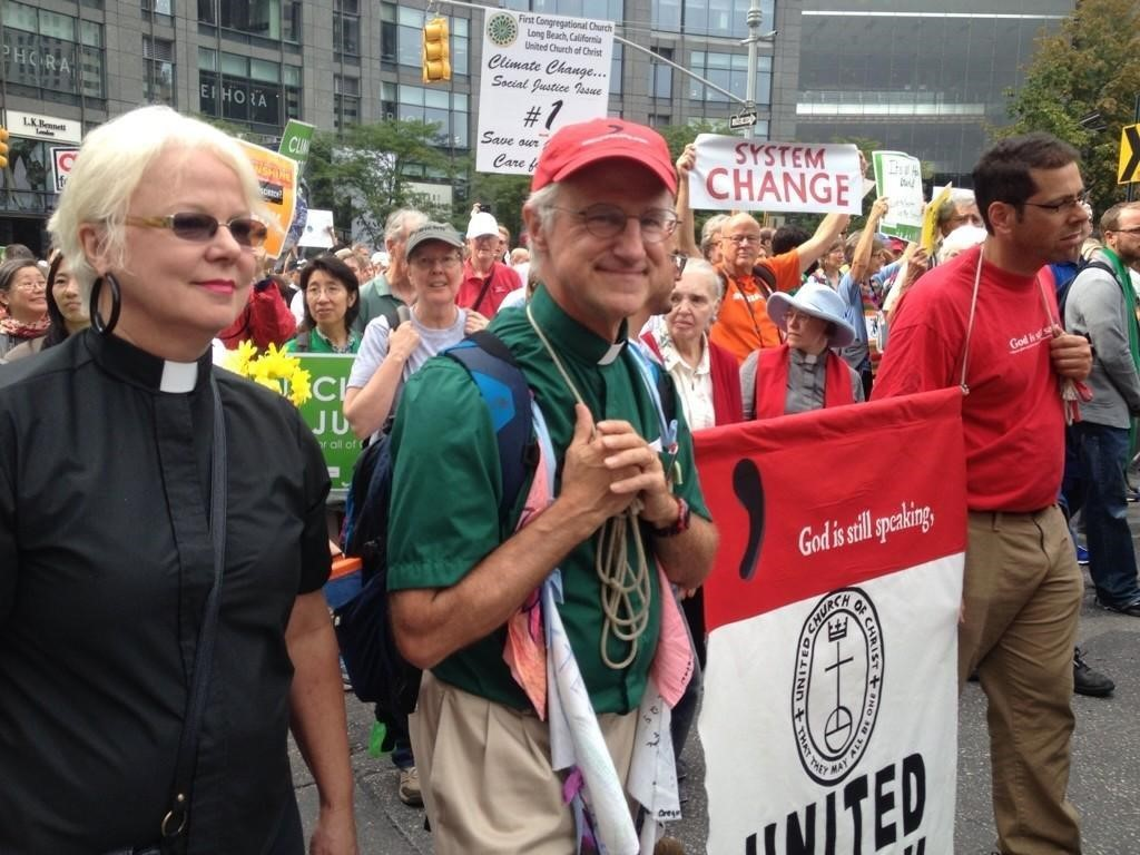 Antal at a climate march