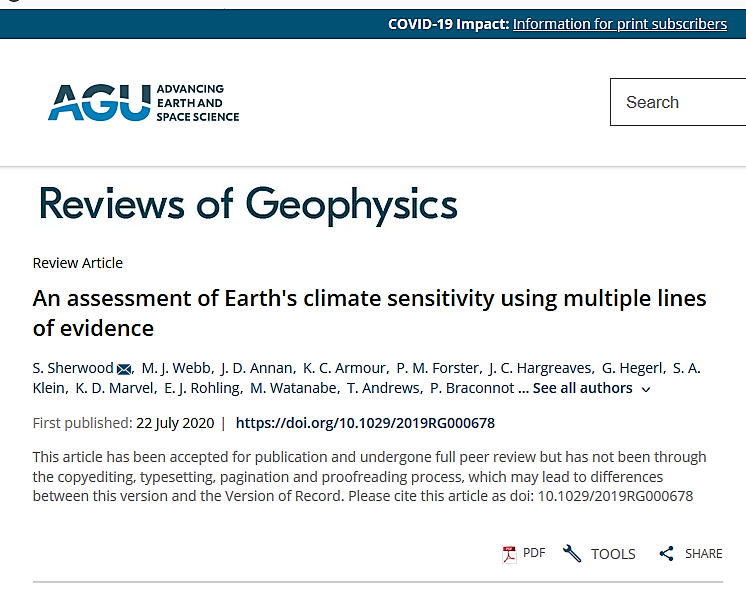 AGU climate article 7/22/20 screen shot